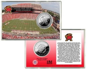University of Maryland Capital One Field at Byrd Stadium Silver Coin Card