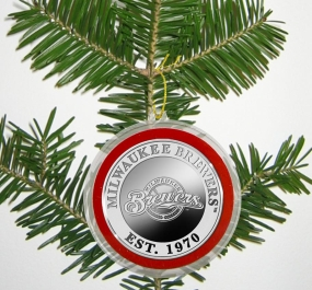 Milwaukee Brewers Silver Coin Ornament