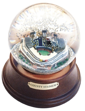 COUNTY STADIUM MUSICAL GLOBE