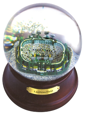 HISTORICAL LAMBEAU FIELD MUSICAL GLOBE