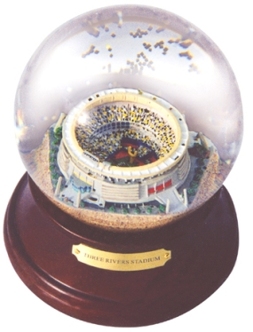 THREE RIVERS STADIUM MUSICAL GLOBE