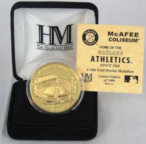McAfee Coliseum 24KT Gold Commemorative Coin