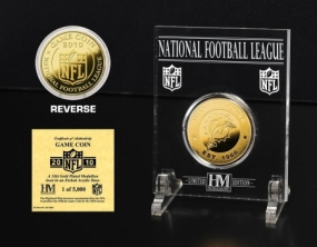 Miami Dolphins 24KT Gold Game Coin