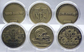MIAMI DOLPHINS BRONZE SUPER BOWL COLLECTION