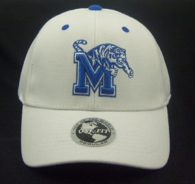 Memphis Tigers White One Fit Hat