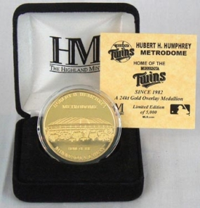 Hubert H. Humphrey Metrodome 24KT Gold Commemorative Coin