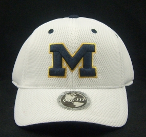 Michigan Wolverines White Elite One Fit Hat