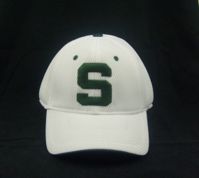 Michigan State Spartans White Elite One Fit Hat