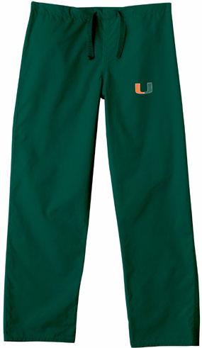 Miami Hurricanes Scrub Pants