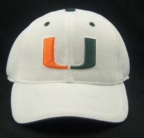 Miami Hurricanes White Elite One Fit Hat