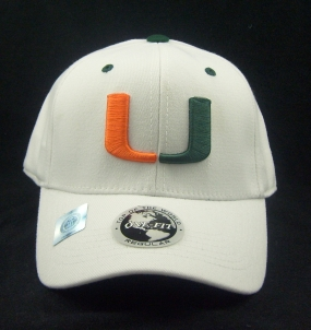 Miami Hurricanes White One Fit Hat