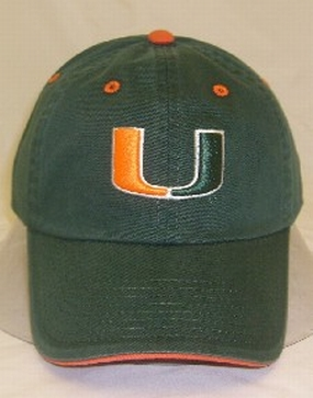 Miami Hurricanes Adjustable Crew Hat