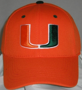 Miami Hurricanes Team Color One Fit Hat