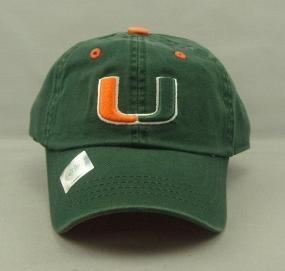 Miami Hurricanes Youth Crew Adjustable Hat