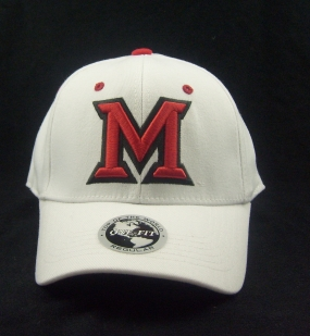 Miami (OH) Redhawks White One Fit Hat