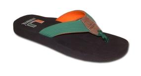 Miami Hurricanes Flip Flop Sandals
