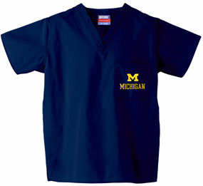 Michigan Wolverines Scrub Top