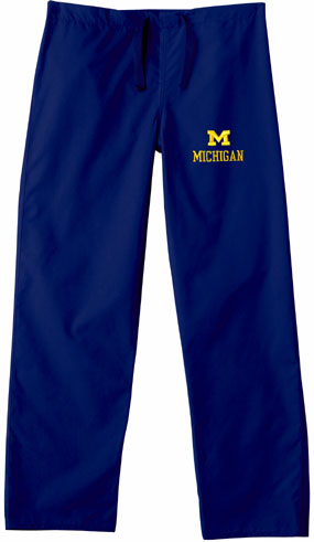 Michigan Wolverines Scrub Pants