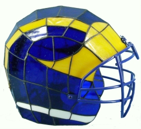 Michigan Wolverines Glass Helmet Lamp