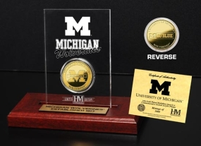 University of Michigan 24KT Gold Coin Etched Acrylic