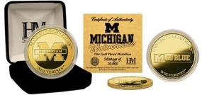 University of Michigan 24KT Gold Coin