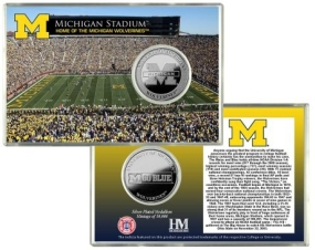 University of Michigan Stadium Silver Coin Card