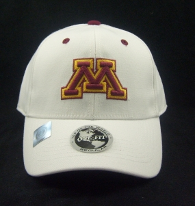 Minnesota Golden Gophers White One Fit Hat