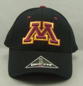 Minnesota Golden Gophers Black One Fit Hat