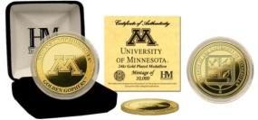 Minnesota Golden Gophers24KT Gold Coin