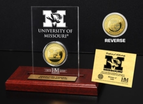 University of Missouri 24KT Gold Coin Etched Acrylic
