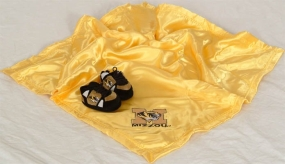 Missouri Tigers Baby Blanket and Slippers