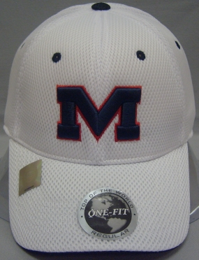 Mississippi Rebels White Elite One Fit Hat