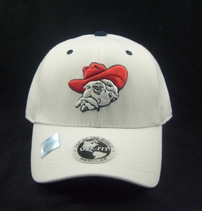 Mississippi Rebels White One Fit Hat