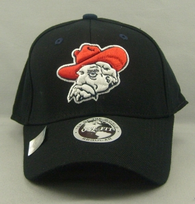 Mississippi Rebels Black One Fit Hat