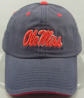 Mississippi Rebels Adjustable Crew Hat