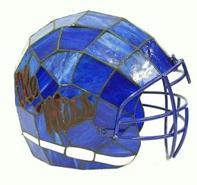 Mississippi Rebels Glass Helmet Lamp
