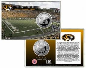 University of Missouri Faurot Stadium Silver Coin Card