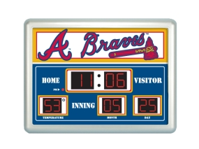 Atlanta Braves Scoreboard Clock