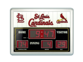 Saint Louis Cardinals Scoreboard Clock