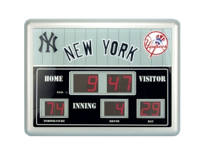 New York Yankees Scoreboard Clock