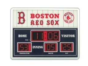 Boston Red Sox Scoreboard Clock