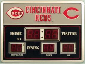 Cincinnati Reds Scoreboard Clock