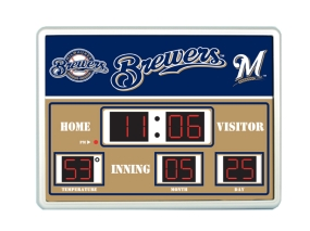 Milwaukee Brewers Scoreboard Clock