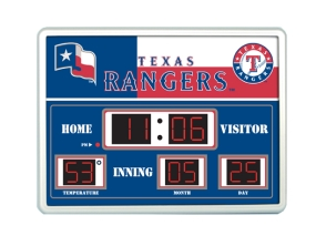 Texas Rangers Scoreboard Clock