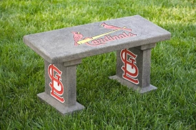 St. Louis Cardinals Concrete Bench