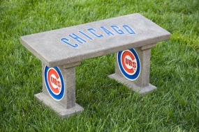 Chicago Cubs Concrete Bench
