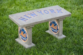 New York Mets Concrete Bench