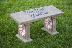 New York Yankees Concrete Bench