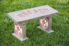 Boston Red Sox Concrete Bench