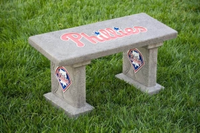 Philadelphia Phillies Concrete Bench